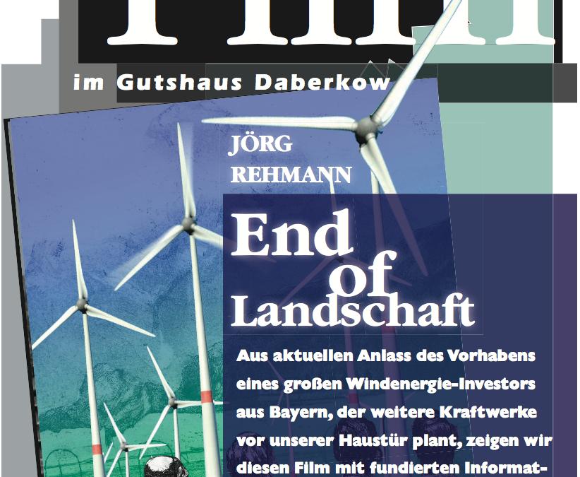 """Daberkow: BI """"Für weniger Industrie in unserer Natur"""" zeigt kritischen Film zur Windenergieindustrie"""
